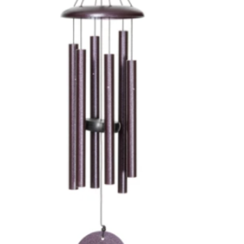 "- WIND RIVER CORINTHIAN CHIMES 27"" PLUM"