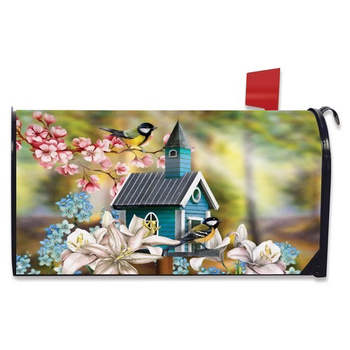 - BRIARWOOD LANE PEACEFUL BIRD HOUSE  MAILBOX COVER