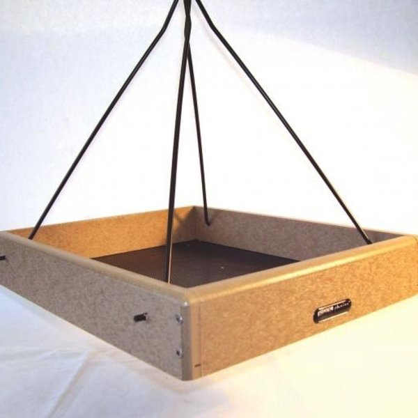 "- BIRDS CHOICE 16""X13"" RECYCLED HANGING TRAY FEEDER"