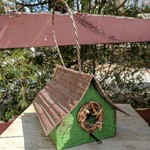 - NATURE CREATIONS BARN WOOD HANGING WREN HSE W/TIN ROOF #40 GREEN