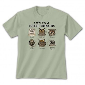 - EARTH SUN MOON HOOS HOO COFFEE DRINKERS TSHIRT