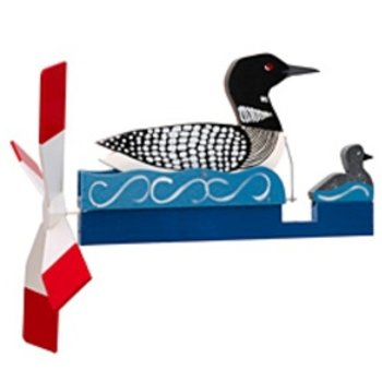 - WALSTON WOODCRAFT LOON WITH BABY WHIRLYGIG