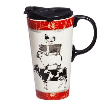 - EVERGREEN FARMER'S MARKET CERAMIC TRAVEL MUG