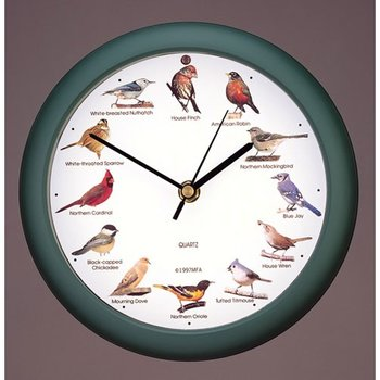 "- MARK FELDSTEIN ORIGINAL 8"" SINGING BIRD CLOCK"