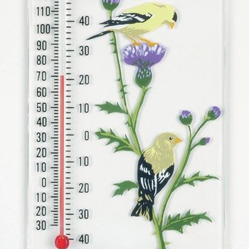 - ASPECTS GOLDFINCH PAIR WINDOW THERMOMETER