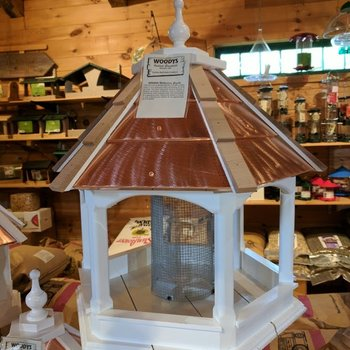 -WOODY'S WILBRAHAM LARGE COPPER TOP GAZEBO BIRD FEEDER