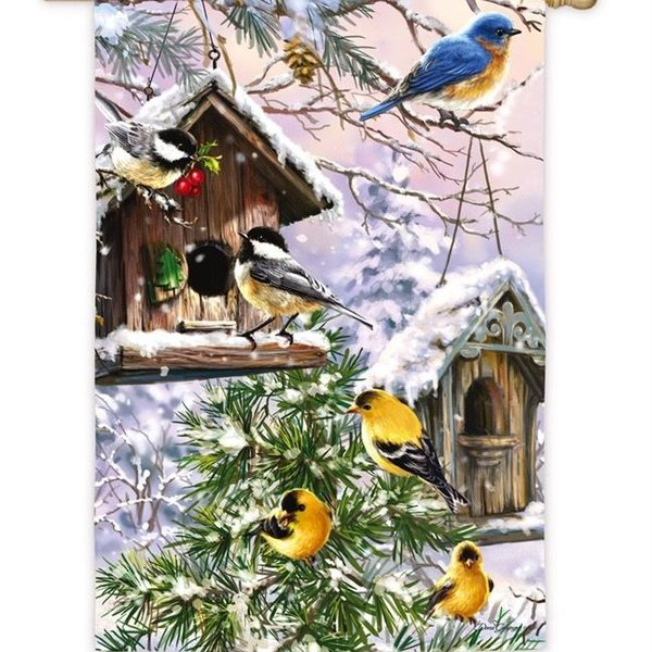 - EVERGREEN BIRDS OF A FEATHER SUEDE ESTATE FLAG