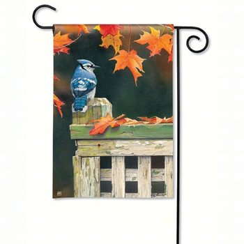 - MAGNET WORKS AUTUMN BLUE JAY GARDEN FLAG