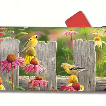 - MAGNET MAILBOX COVER GOLDFINCHES & CONEFLOWERS