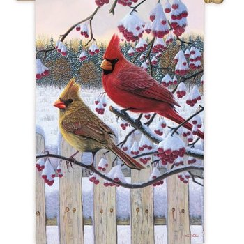 - EVERGREEN SONGBIRD WINTER ESTATE FLAG