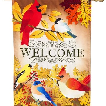 - EVERGREEN AUTUMN BIRD SONG ESTATE FLAG
