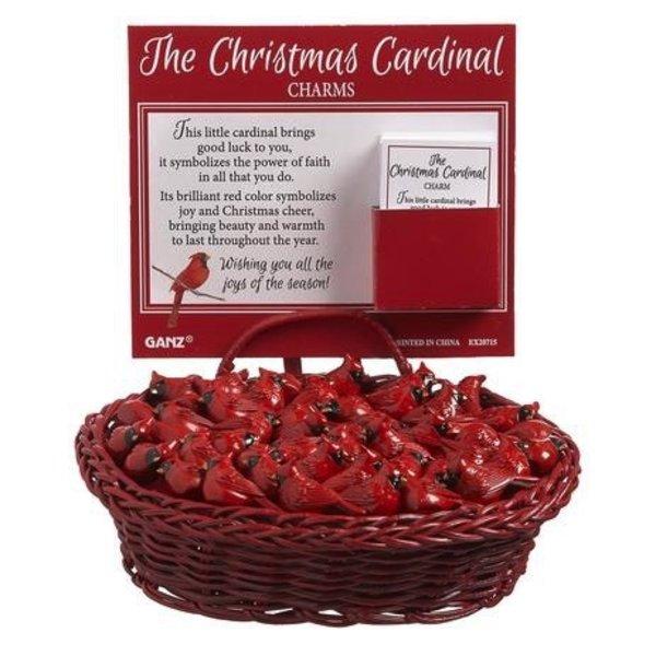 - GANZ CHRISTMAS CARDINAL CHARM