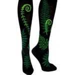 - MODSOCK FERNS & FIDDLEHEADS KNEE SOCKS