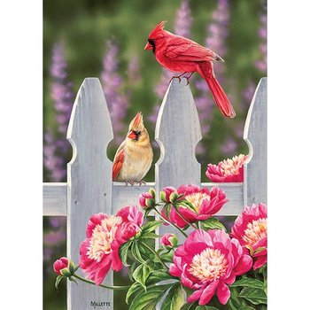 - COBBLE HILL CARDINALS & PEONIES PUZZLE 1000PC.