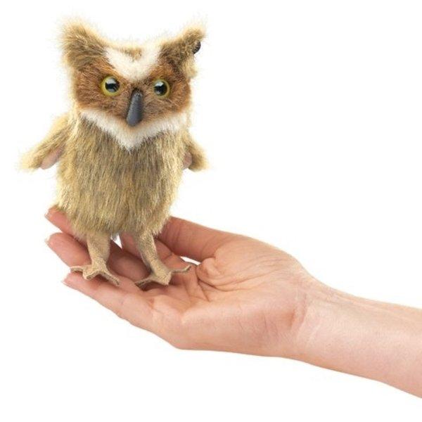 - FOLKMANIS MINI GREAT HORNED OWL FINGER PUPPET