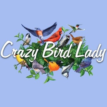 - ESM CRAZY BIRD LADY TSHIRT CAROLINA BLUE