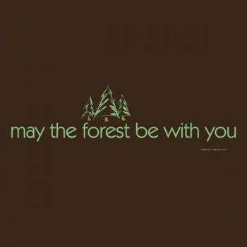 - EARTH SUN MOON MAY THE FOREST BE WITH YOU TSHIRT BROWN