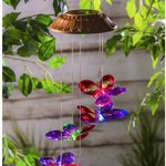 - EVERGREEN FACETED BUTTERFLIES SOLAR MOBILE WINDCHIME