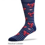 - FOR BARE FEET SOCKS NAUTICAL LOBSTERS LARGE