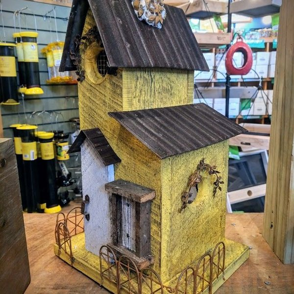 - NATURE CREATIONS BARN WOOD COTTAGE HOUSE W/TIN ROOF #18 GOLD