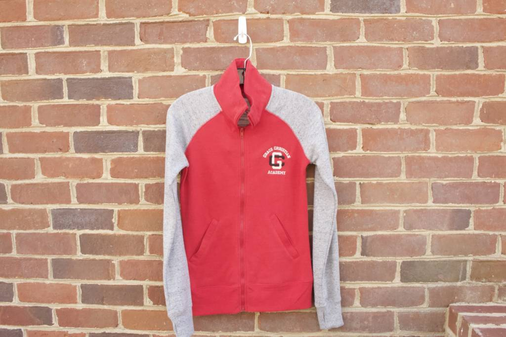 Ladies Vintage Mock Full Zip