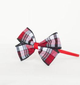 Plaid Bow Wrapped Headband TCB