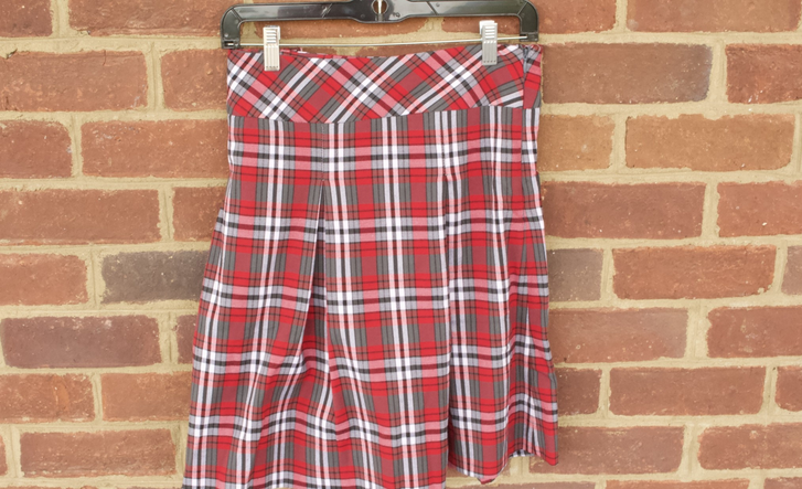 Junior Plaid  Skirt - 0519