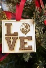 Wooden LOVE GCA Ornament