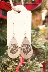 Z  Lion Head Drop Earring