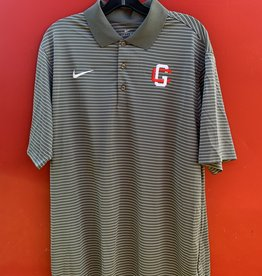 Z Nike Men Stadium Stripe Polo Dark Gray