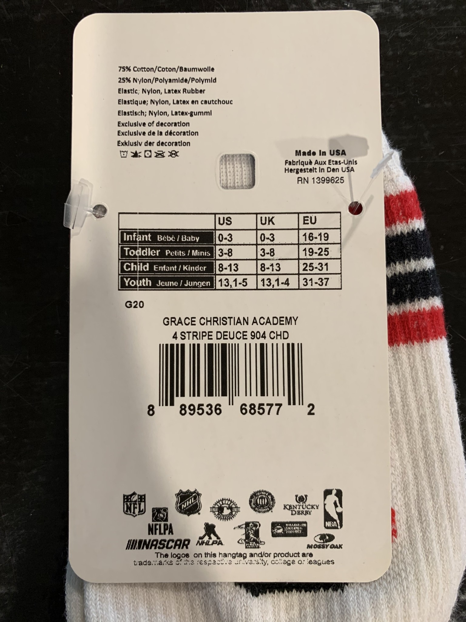 FBF Originals Z GC Logo Socks White