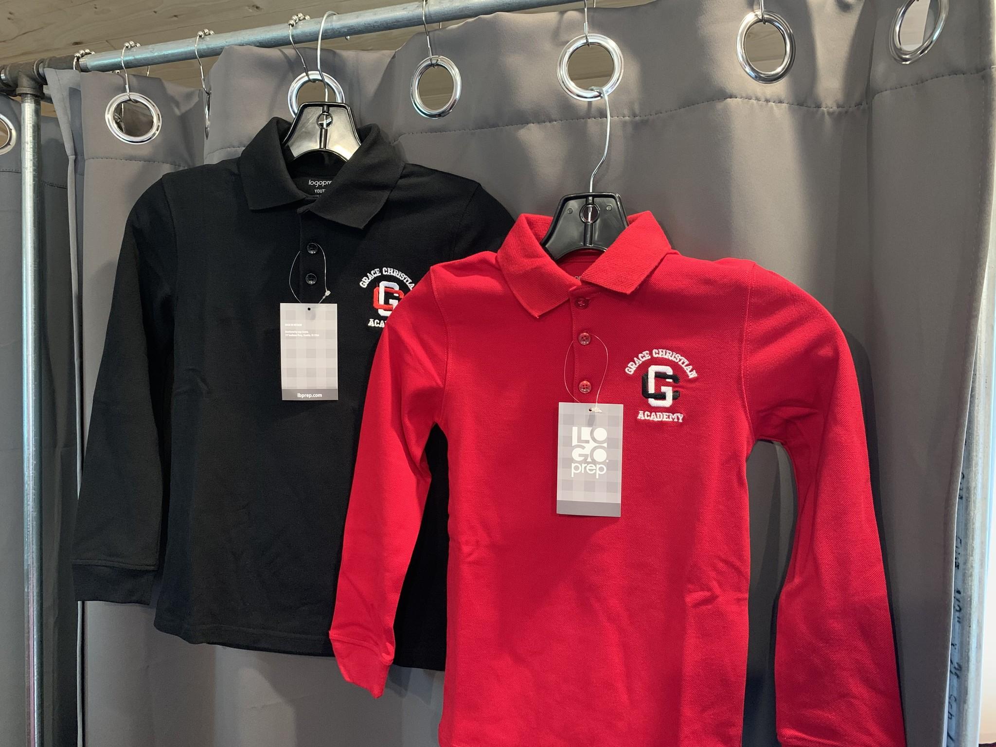 LOGO Brands Youth Uniform Long Sleeve Polo