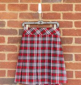 Junior Plaid Long Drop Waist Skirt-EO