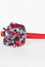 Headband with Plaid Rosette