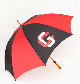 Storm Duds Sporty Wood-Shaft Golf Umbrella