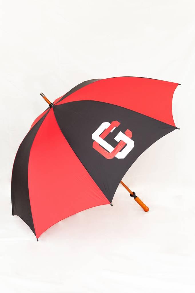 Storm Duds Sporty Wood-Shaft Golf Umbrella