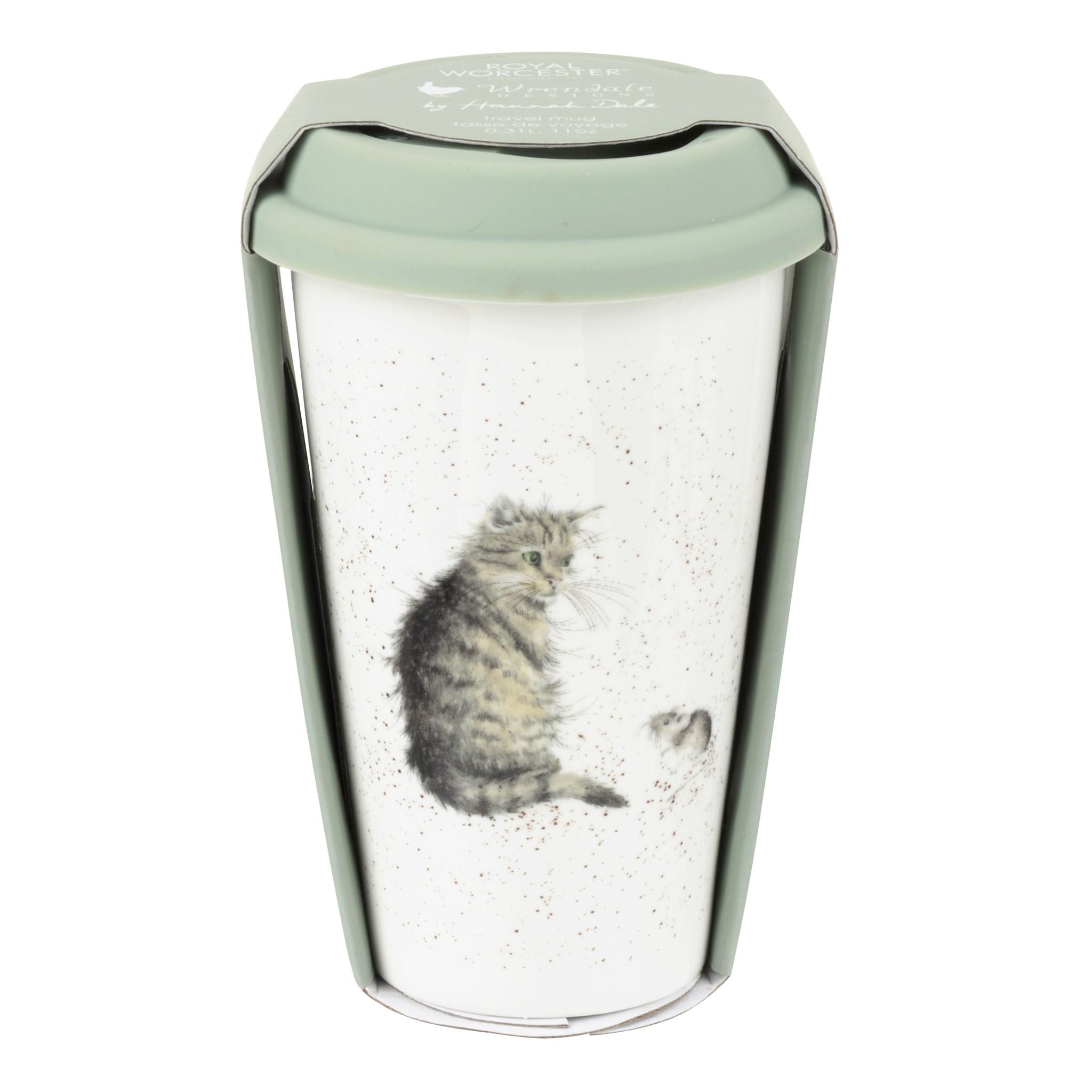 Wrendale Designs 'Cat & Mouse' Travel Mug