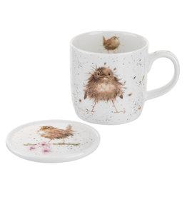 Wrendale Designs 'Flying The Nest' Mug & Coaster Set