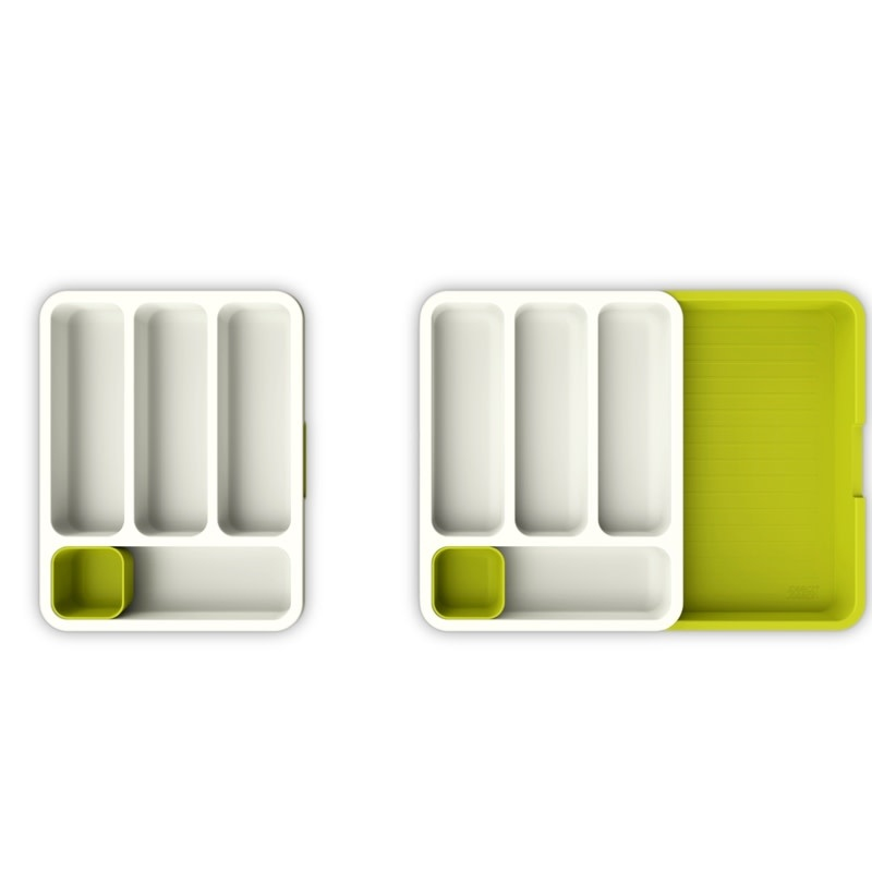 Joseph Joseph DrawerStore Expandable Cutlery Tray - White/Green