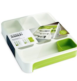 Joseph Joseph Expandable Cutlery Tray - White/Green