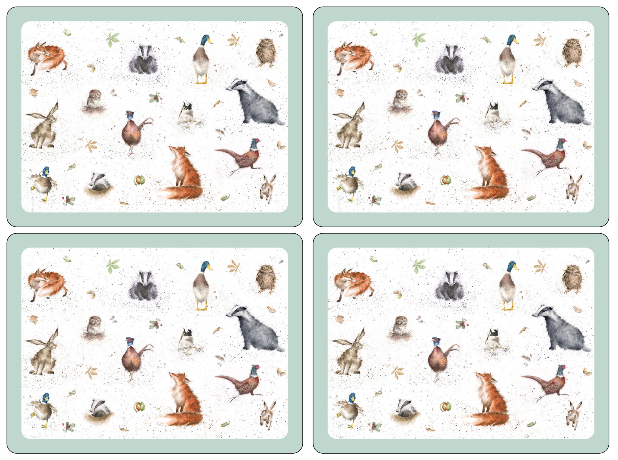 Wrendale Designs Animal Placemats -Set of 4