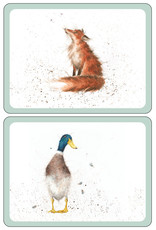 Wrendale Designs Luncheon Animal Placemats - Set of 6