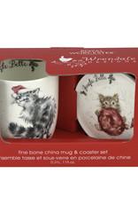 Wrendale Designs 'Jingle Belle' Mug & Coaster Set