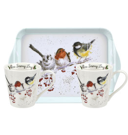 Wrendale Designs 'One Snowy Day' Mug and Tray Set