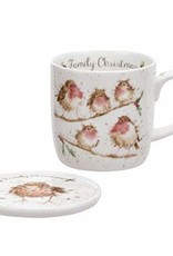 Wrendale Designs 'Family Christmas' Mug & Coaster Set