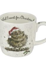 Wrendale Designs 'Owl I want for Christmas' Mug