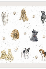 """Wrendale Designs Dogs Placemat - 17""""x11.2"""" - Single"""