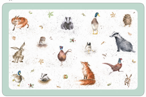 "Wrendale Designs Animal Mat - 17""x11.2"" - Single"