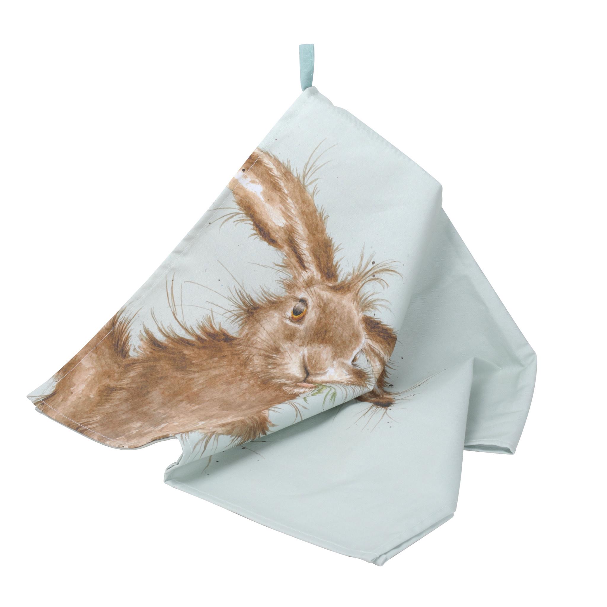 """Wrendale Designs Tea Towel 18"""" x 29"""" - Hare"""