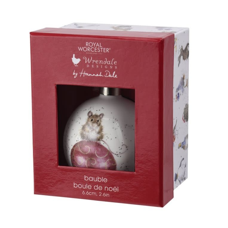 Wrendale Designs 'Not a Creature was Stirring' Christmas Bauble